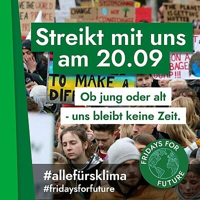 20. September 2019 Fridays for Future 13 Uhr in Heide