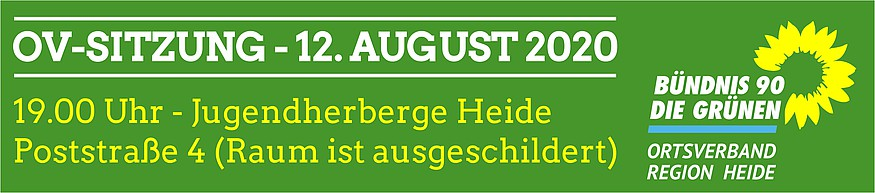 OV-Sitzung 12. August Jugendherberge in Heide